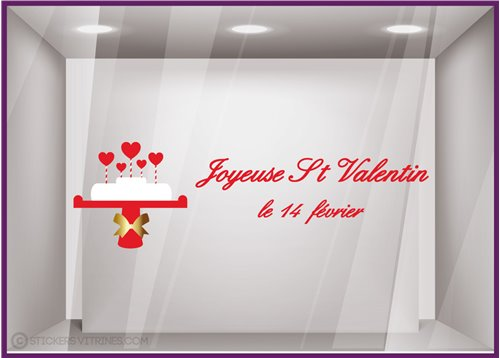 Sticker Gateau Saint Valentin
