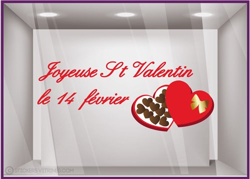 Sticker Chocolats Saint Valentin