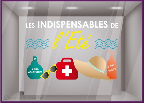 Sticker Les indispensables de l'été Pharmacie