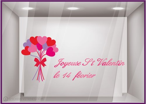 Sticker Bouquet Saint Valentin