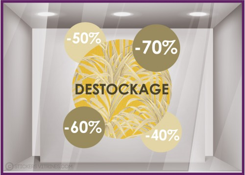 Sticker Ronds Pourcentages Destockage exotique