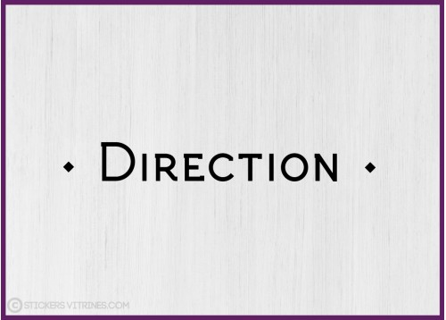 Sticker lettrage Direction