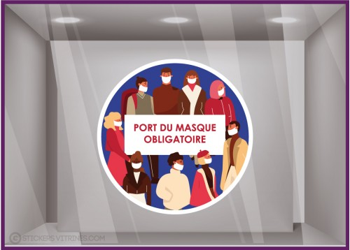 Sticker Port du Masque Obligatoire