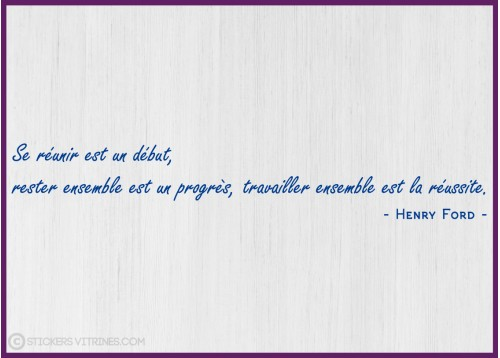 Citation Réussite Henry FORD