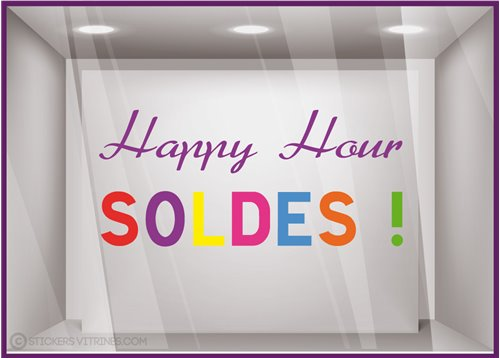 Sticker Soldes Happy Hour