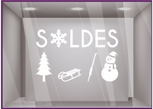 Sticker Soldes Sports d'Hiver