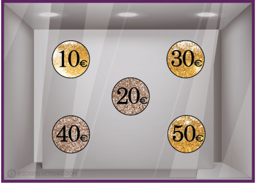 STICKER--SOLDES-PAILLETTES-PRIX-OFFRE-CALICOT-VITRINE-MAGASIN-DECO-ADHESIF-PROMOTIONS-COMMERCE