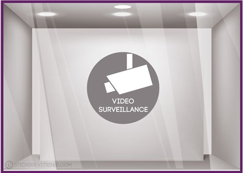 Sticker Vidéo Surveillance signaletique bureau cabinet medical avocat magasin vitrophanie autocollant