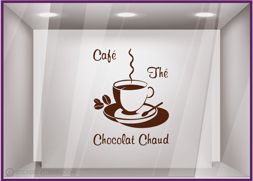 Sticker Café, Thé, Chocolat Chaud