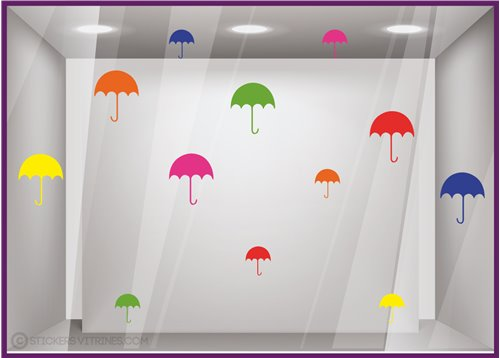 Kit de Stickers Parapluies