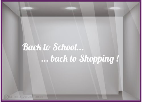 Sticker Back to School... Back to Shopping