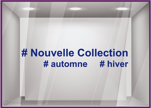 Sticker Nouvelle Collection Hashtag