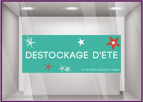 Sticker Destockage d'Été