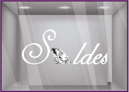 Sticker Soldes Diamant