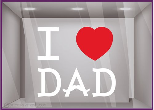 Sticker I love Dad