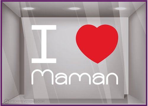 Sticker I love Maman