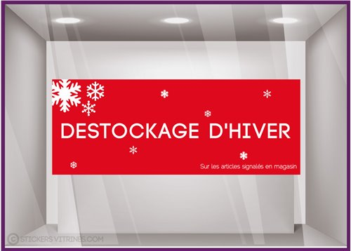 Sticker Destockage d'Hiver