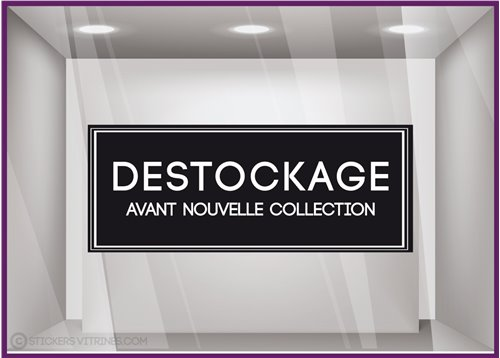 Sticker Destockage Avant Nouvelle Collection