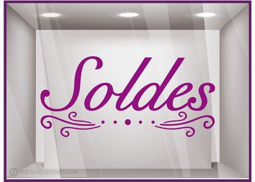 Sticker Soldes Volutes