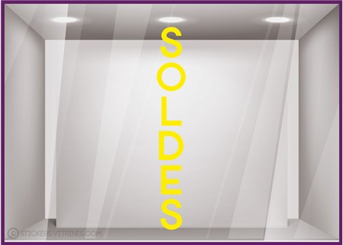 Sticker Soldes Vertical