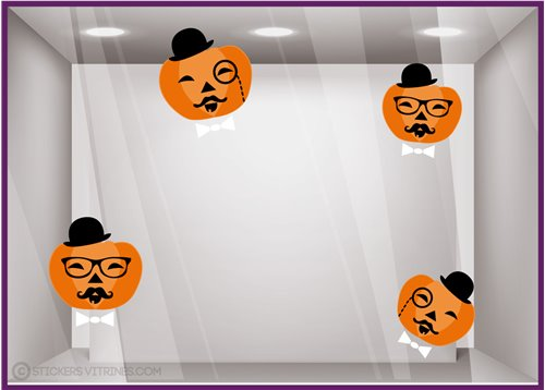 Stickers Citrouilles Halloween