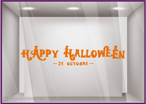 Sticker Texte Happy Halloween