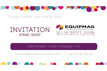 Stickers Vitrines au salon EQUIPMAG
